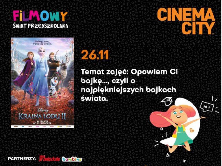 Najpiękniejsze bajki świata, czyli Filmowy Świat Przedszkolaka w Cinema City!